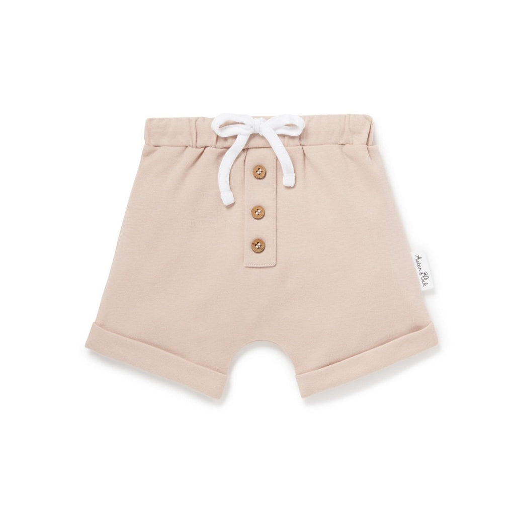 Aster & Oak Rose Dust Button Shorts