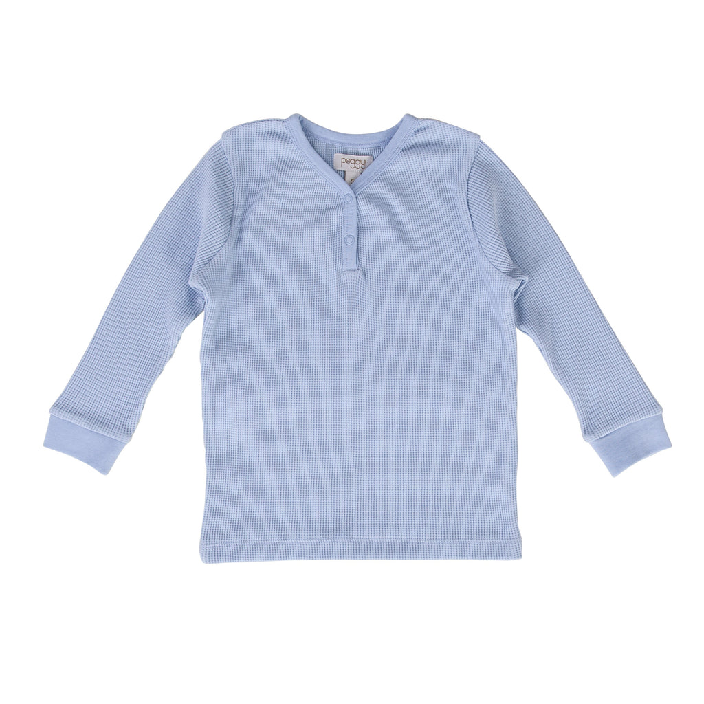 Peggy Halo Henley T-Shirt - Winter Sky