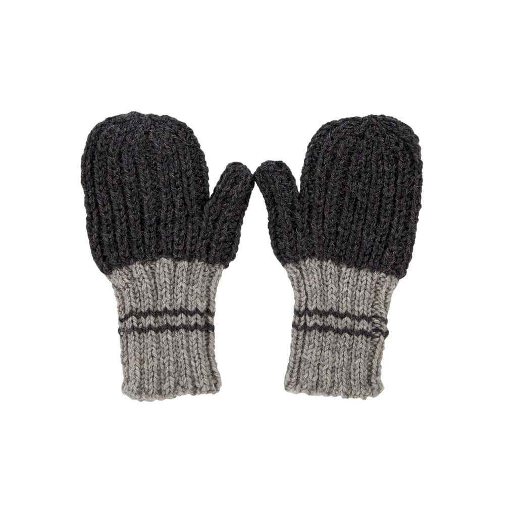 Acorn Kids Campside Ribbed Mittens - Charcoal