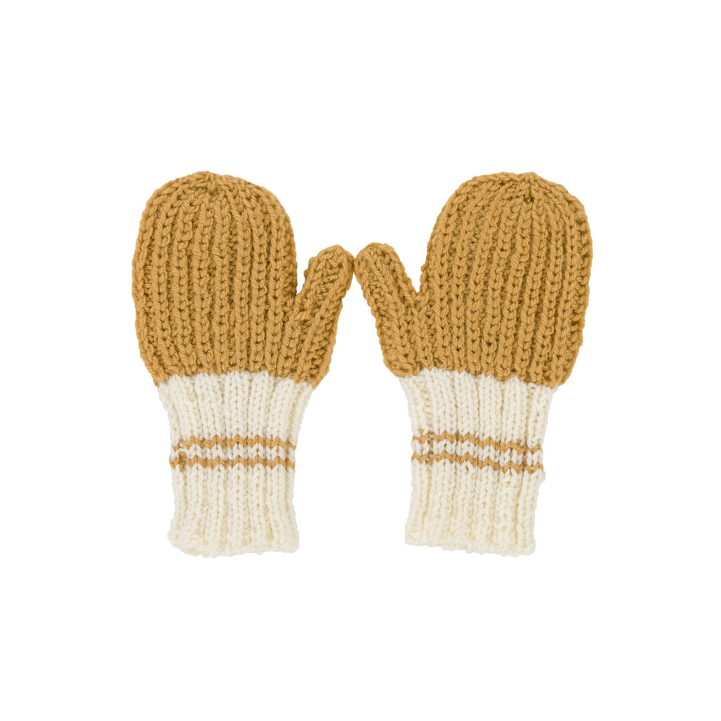 Acorn Kids Campside Ribbed Mittens - Mustard