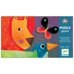 Djeco Giant Puzzle - Animal Parade 36pc