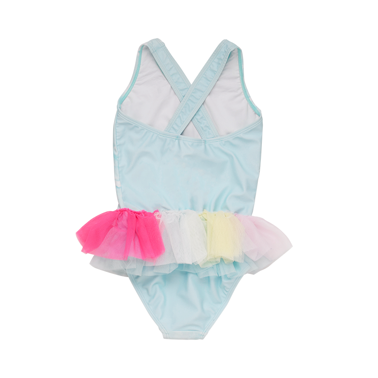 Rock Your Baby Unicorn Clouds Tulle Baby Swimsuit