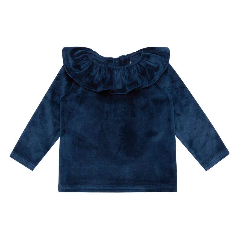 Rock Your Baby Velvet LS Baby T-Shirt - Navy