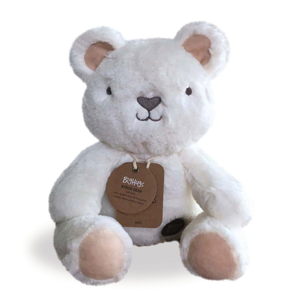 OB Designs Huggie Byron Bear White