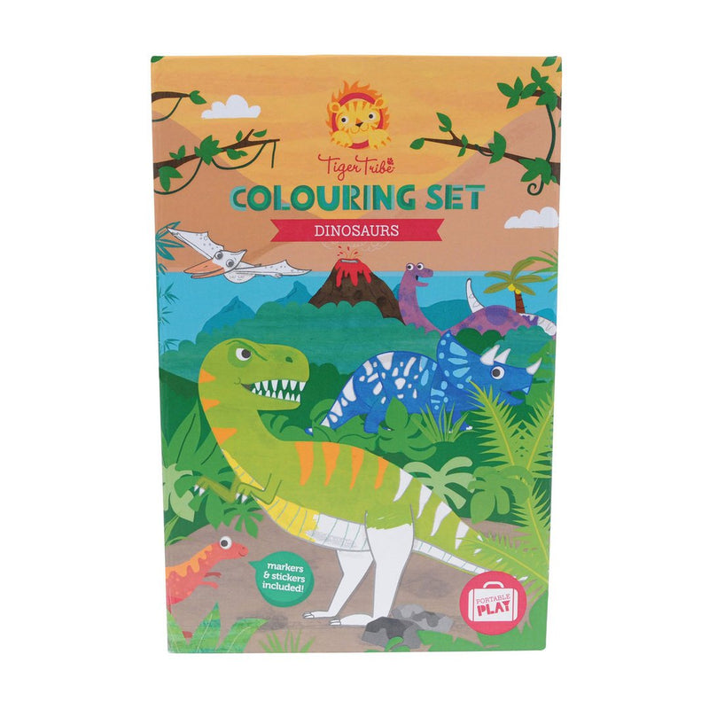 Tiger Tribe Colouring Set- Dinosaurs
