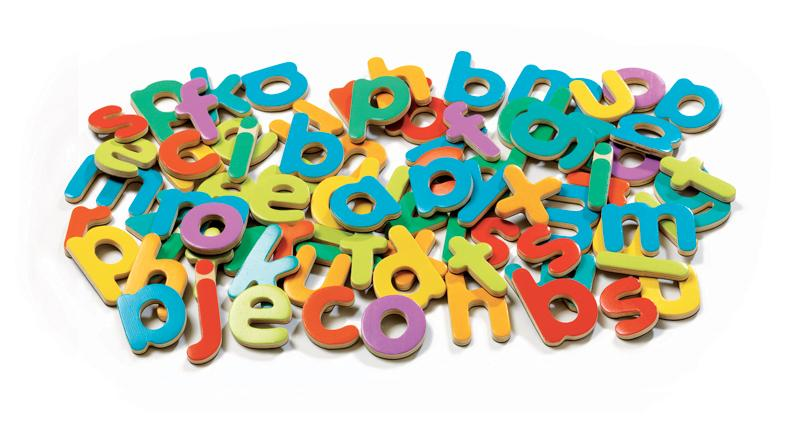 Djeco Wooden Magnetic 83 Script Lower Case Letters