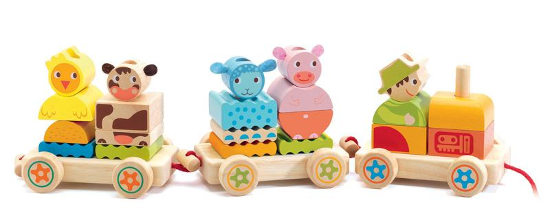 Djeco Creafarm Wooden Train