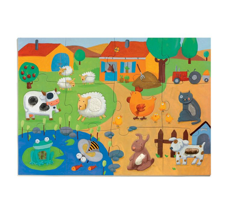 Djeco Giant Puzzle - Tactile Farm 20pc