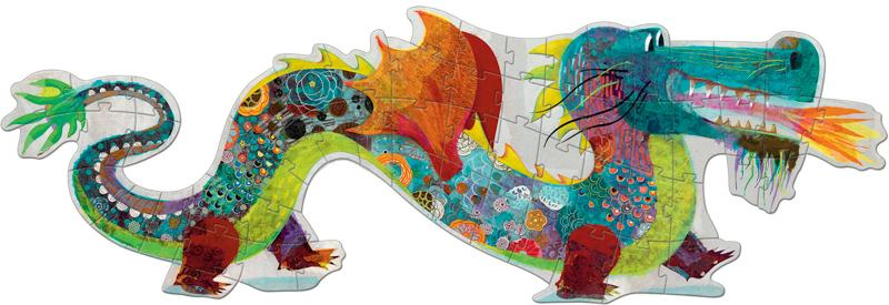 Djeco Giant Puzzle - Leon The Dragon 58pc