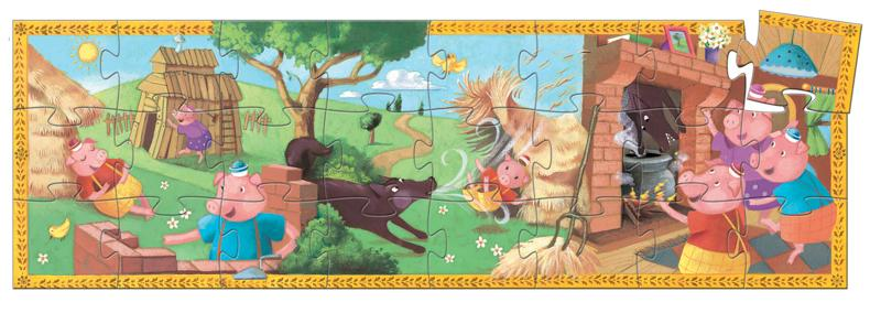 Djeco Silhouette Puzzle - The 3 Little Pigs 24pc