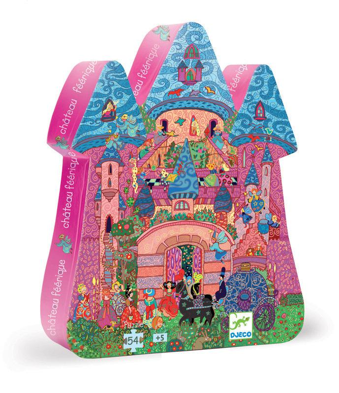 Djeco Silhouette Puzzle - The Fairy Castle 54pc