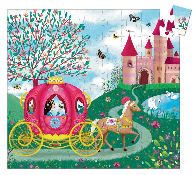 Djeco Silhouette Puzzle - Elise's Carriage 54pc