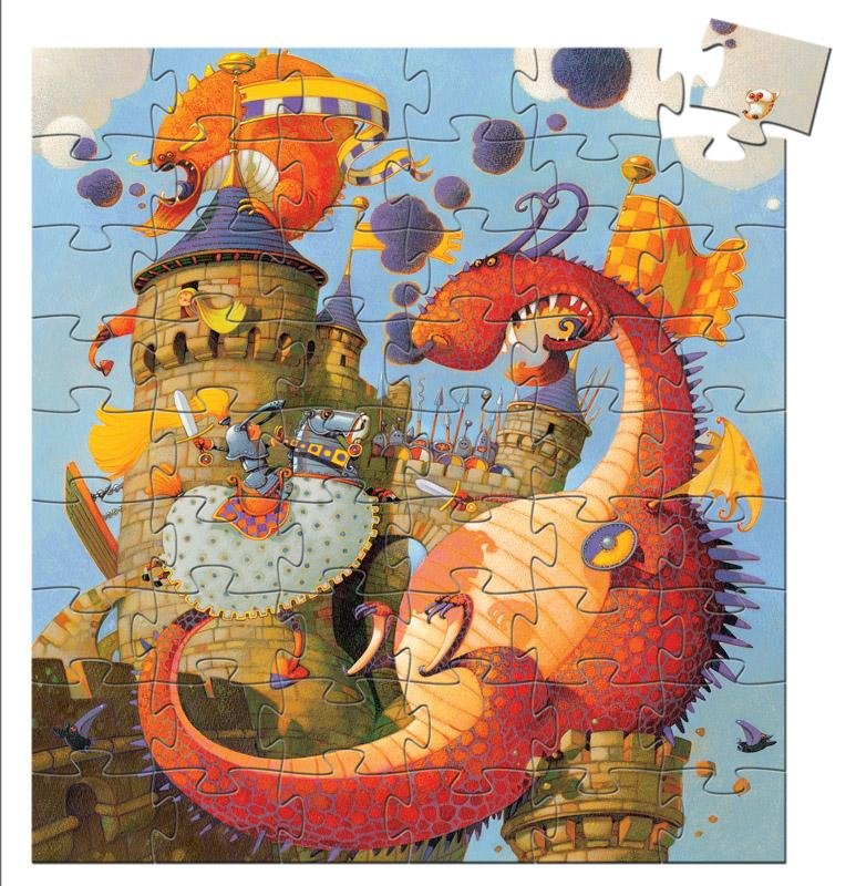 Djeco Silhouette Puzzle - Vaillant And The Dragon 54pc