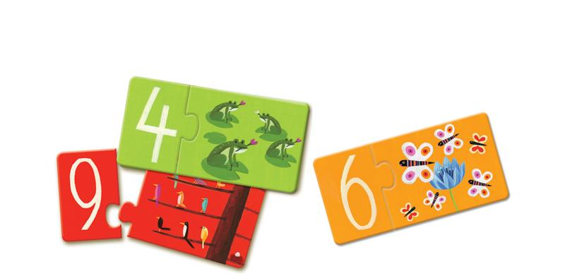 Djeco Duo Numbers 20pc Puzzle
