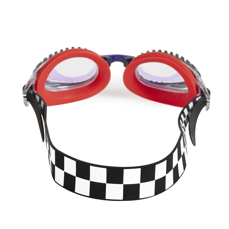 Bling2o Swim Goggles Drag Race - Chevy Red Checkerboard