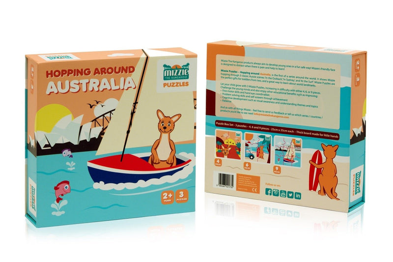 Mizzie the Kangaroo Puzzle - Hopping Around Australia
