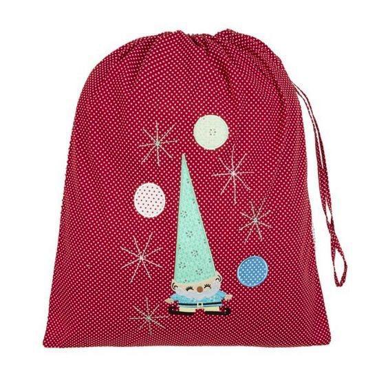 Cheerful Elf (Red) Christmas Sack