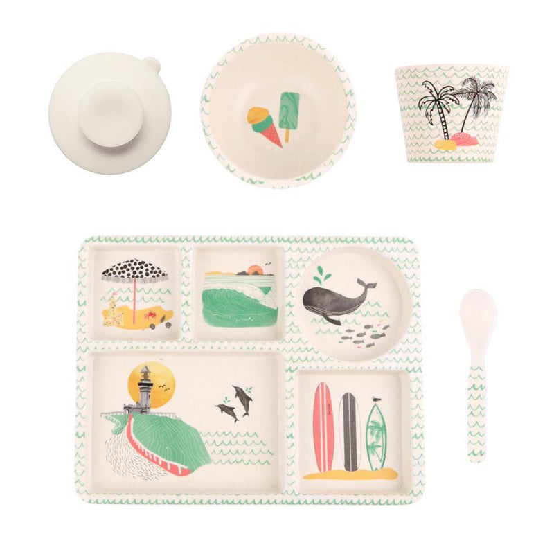 Love Mae Bamboo Divided Plate Set - Byron Bay