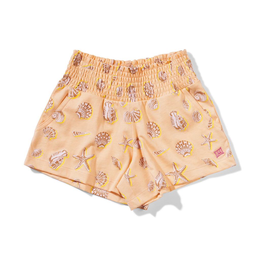Missie Munster Flamenco Shorts - Orange Shells