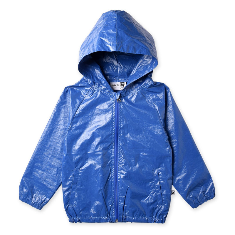Minti High Shine Anorak Hoodie - Electric Blue