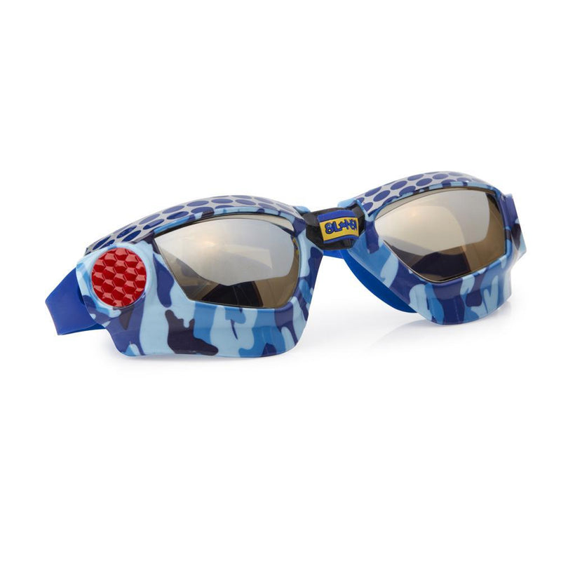 Bling2o Swim Goggles Mack Truck Camo - Mud Bogging Blue Metal Grill