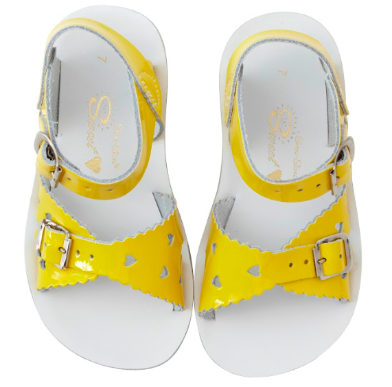 Salt Water Sandals Sun-San Sweetheart Shiny Yellow