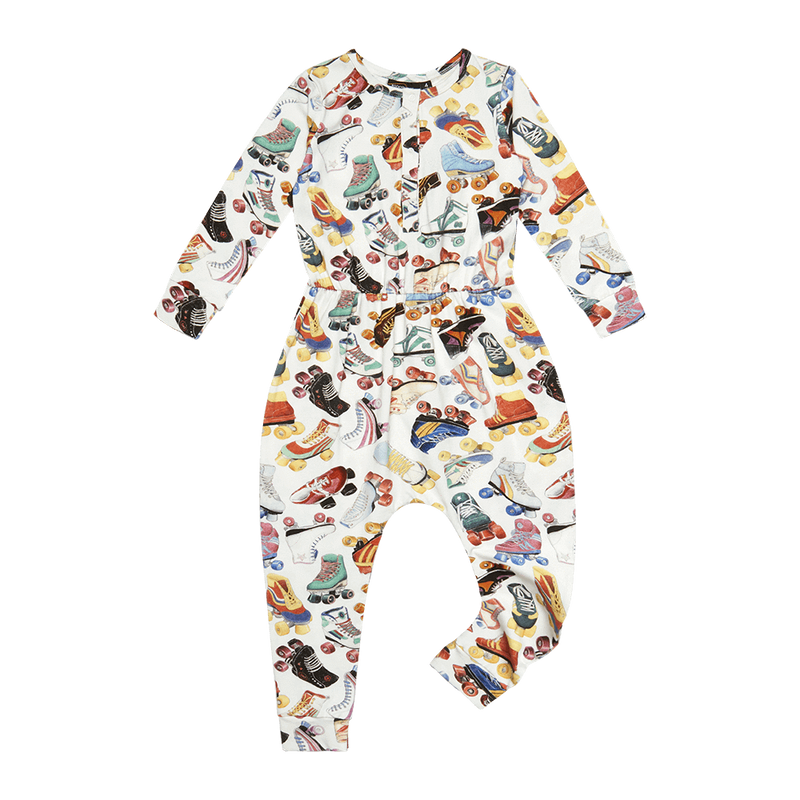 Rock Your Baby Roller Girl LS Jumpsuit