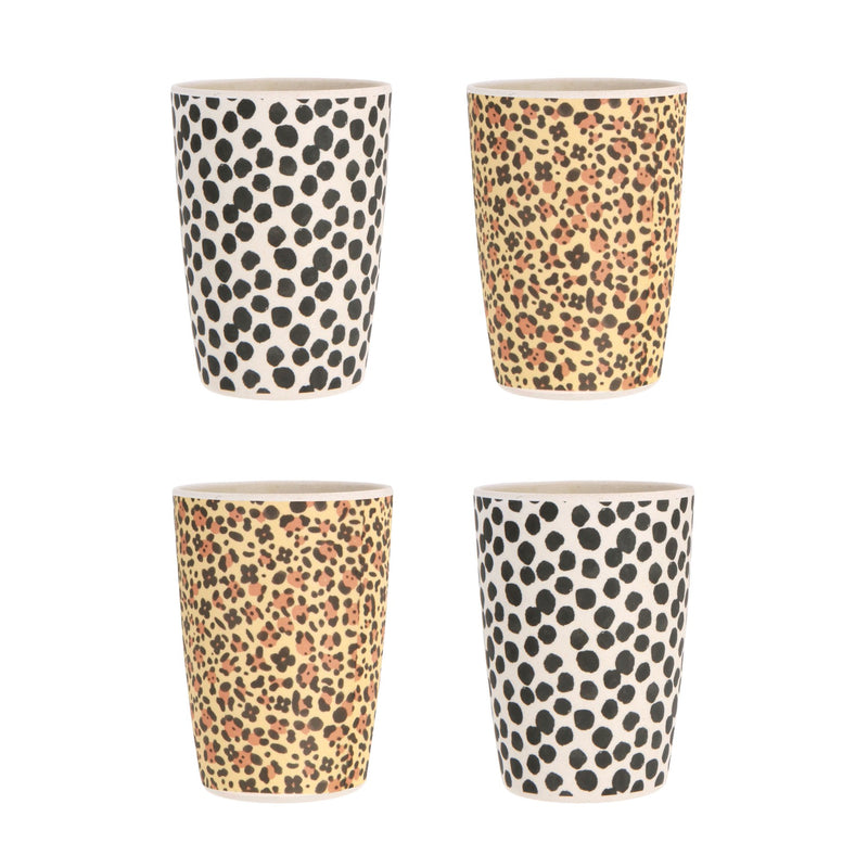 Love Mae Bamboo Tumbler Set - Jaguar & Jungle Spot