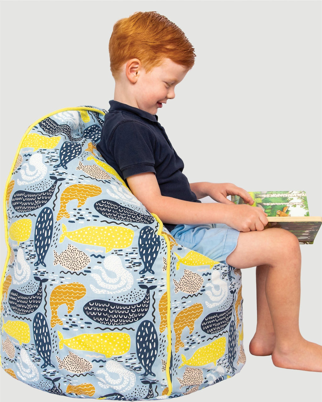 Bean Bag Cover - Whale - Small