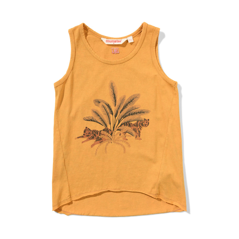Missie Munster Ziggy Tank Top - Mineral Sunflower