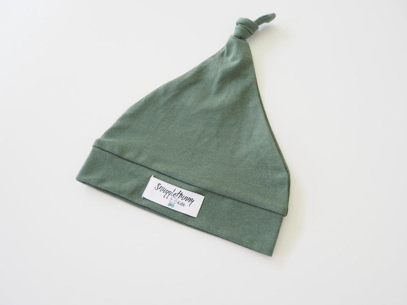 Snuggle Hunny Kids Knotted Beanie - Olive