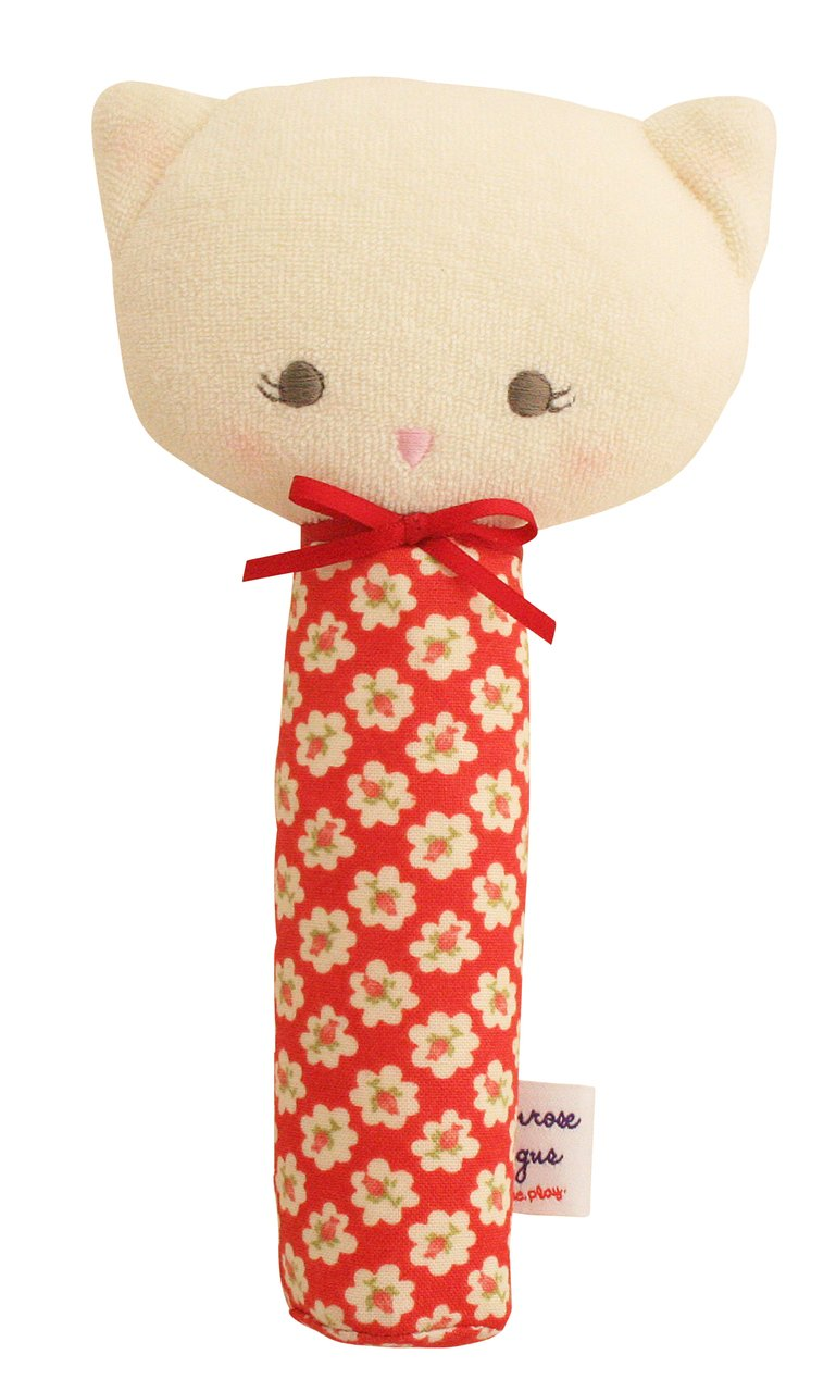 Alimrose Kitty Squeaker 19cm- Red Posy