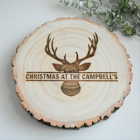 Personalised Christmas Log Slice