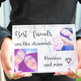 Acrylic Photo Block - Friends Are Like Diamonds
