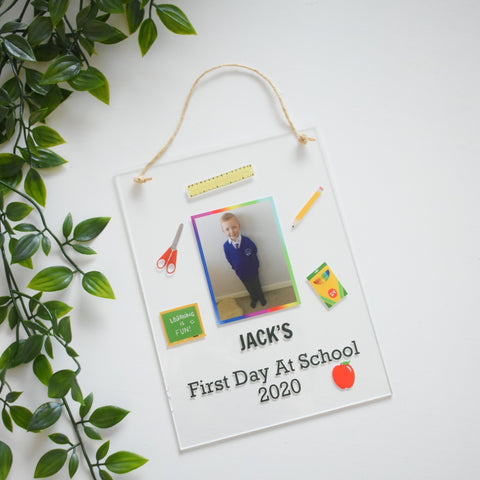 First Day At School Plaque