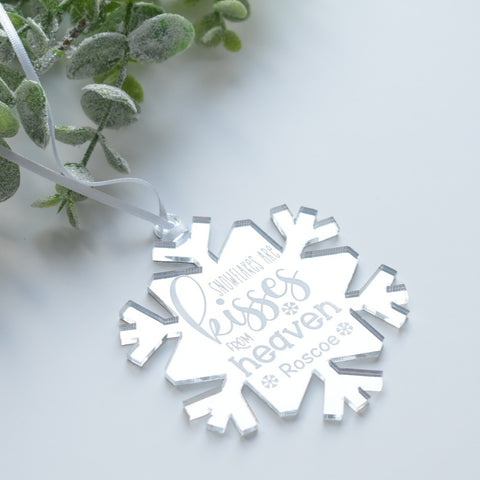 Snowflakes Are Kisses Tree Decoration