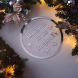 Mirrored Acrylic Christmas Sign