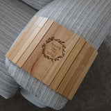 Personalised Wooden Flexible Sofa Tray