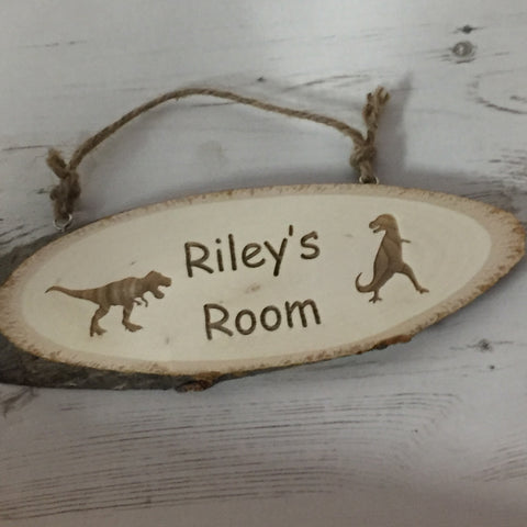 Log Slice Door Sign