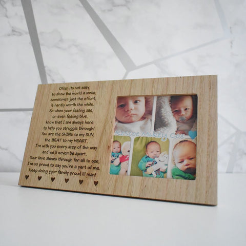 Personalised Half & Half Photo Frame