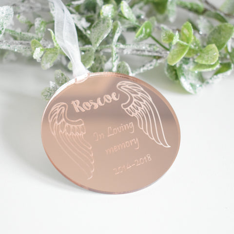 Personalised In Loving Memory Remembrance Bauble