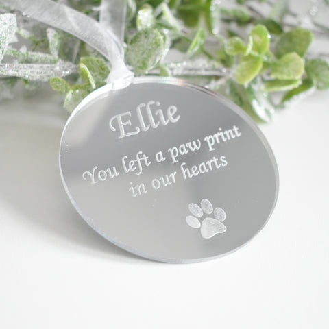 Personalised Remembrance Pet Bauble