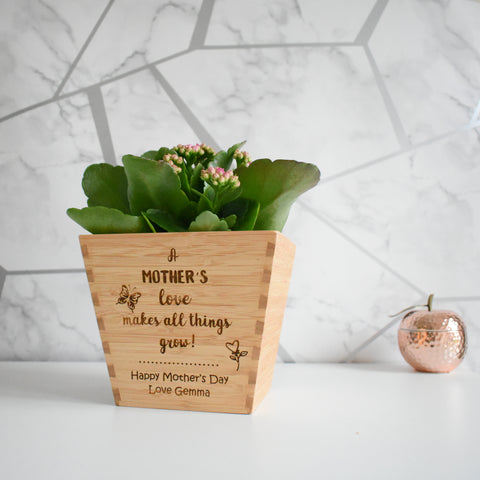 A Mother's Love Personalised Plant Pot