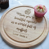 NEW Personalised Cupcake Board-Round