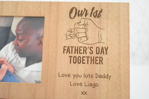Our 1st Father's Day Together..... Photo Frame