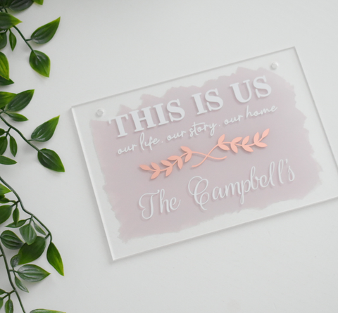 This Is Us Acrylic Plaque