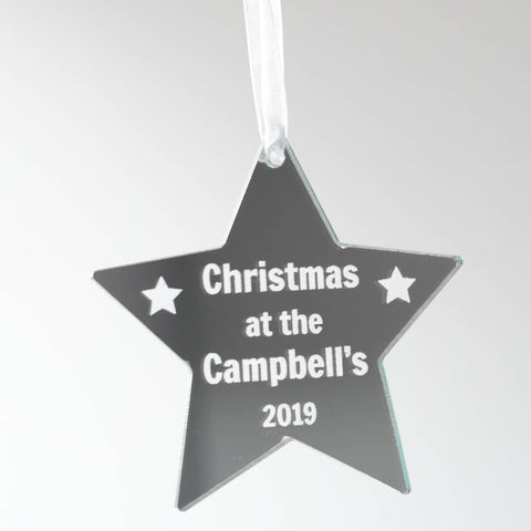 Personalised Star Christmas Tree Decoration