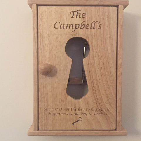 Personalised Key Cabinet