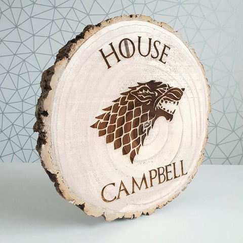 Wood slice inspired by Games of Thrones