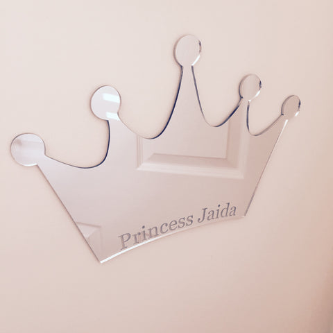 Personalised Crown Mirror